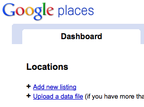 Add New Listing to Google Places