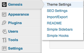 Genesis Theme Settings