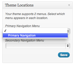 WordPress Theme Navigation