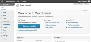 WordPress 3.5 Welcome Screen