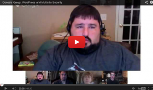 WordPress Security and WordPress Multisite Security [Hangout]