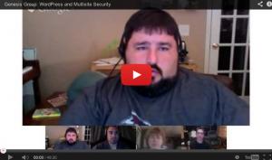 WordPress Security and WordPress Multisite Security [Hangout]
