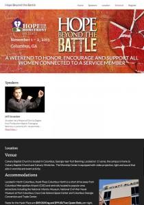 Hope Beyond the Battle Website Design