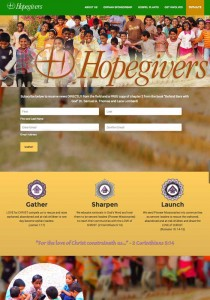 Hopegivers International website design