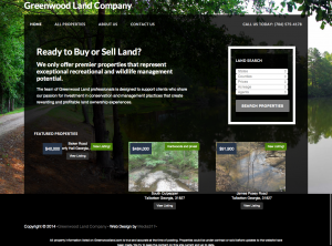 Greenwood Land Company Website design