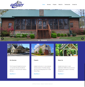 Graddy construction web design